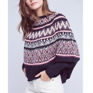 Sleeping On Snow by Anthropologie Poncho Sweater